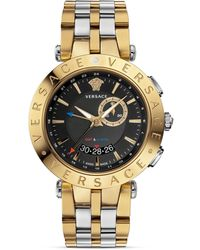 Versace Vrace Gmt Round Watch 46mm - Lyst