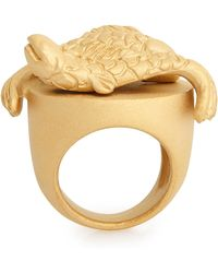 Valentino Pisces Zodiac Sign Ring Pisces Zodiac Sign Ring gold - Lyst