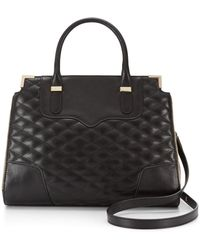 Rebecca Minkoff Quilted Amorous Satchel - Lyst