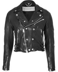 Burberry Brit Leather Matthias Biker Jacket - Lyst