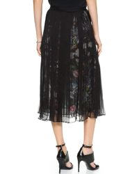 McQ by Alexander McQueen Long Shirred Skirt - Black - Lyst