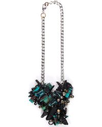 Subversive Jewelry - Turquoise And Black Quartz Couture Necklace - Lyst