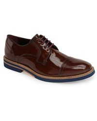 Ted Baker 'Layke' Patent Leather Cap Toe Derby - Lyst