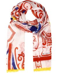 Etro Patterned Scarf Red - Lyst