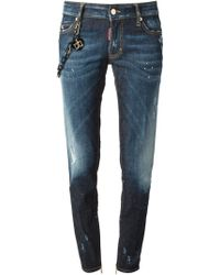 DSquared2 Medium Waist Skinny Jeans - Lyst