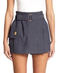 Marc Jacobs Draped High-Waisted Mini Skirt - Lyst