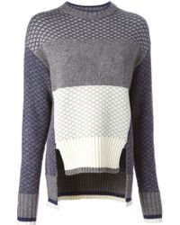 Prabal Gurung Chunky Knit Striped Sweater - Lyst