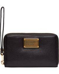 Marc By Marc Jacobs Black Leather Classic Q Large Wristlet Wallet - Lyst