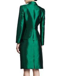 Tahari Pleated-jacket Skirt Suit - Lyst