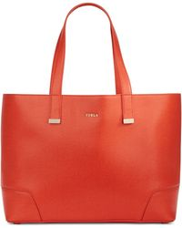 Furla Stacy Large Leather Tote - Lyst