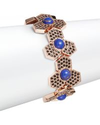 Giles & Brother Lapis Hexagon Link Bracelet - Lyst