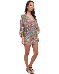 Trina Turk Peruvian Stripe Covers Tunic Cove-Up - Lyst