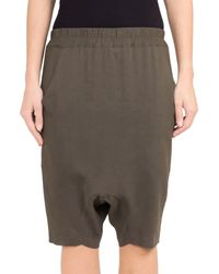 Amen Baggy Shorts in Viscose Crepe - Lyst