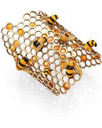 Delfina Delettrez To Bee Or Not To Bee Honeycomb Opencuff Bracelet - Lyst