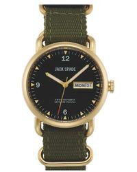 Jack Spade - 'conway' Nylon Strap Watch - Lyst