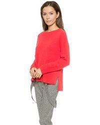 Rachel Zoe - Lera Boxy Banded Low Sweater - Winter White - Lyst
