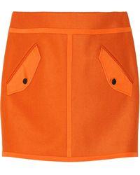 Rag & Bone Bomber Wool-blend Mini Skirt - Lyst