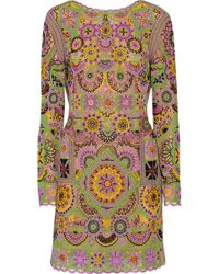 Emilio Pucci Embellished Tulle Mini Dress - Lyst