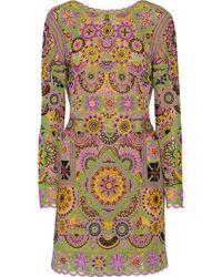 Emilio Pucci Embellished Tulle Mini Dress - Lyst