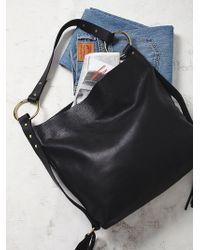Free People | Martha Davis Womens Mega Ring Leather Hobo | Lyst
