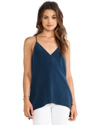Milly V Neck Fly Away Top - Lyst