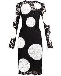 Dolce & Gabbana Polka Dot Lace Dress - Lyst