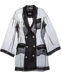KTZ - Double-Breasted Silk Coat - Lyst