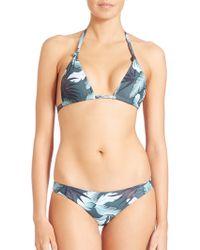Mikoh Swimwear | St. John Knot Halter Bikini Top | Lyst