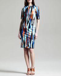 Jonathan Saunders Raquel Printed Shift Dress - Lyst