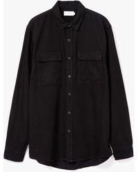 Topman | Ls Double Pocket Shirt | Lyst