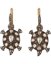 Munnu - Turtle Drop Earrings - Lyst