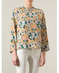 MSGM Floral Print Top - Lyst