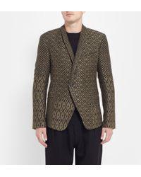 Haider Ackermann Patterned Silk and Cotton-blend Blazer - Lyst