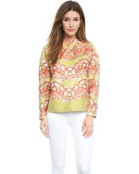 RED Valentino Brocade Top - Mint Green - Lyst