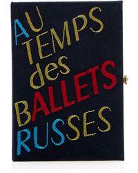 Olympia Le-Tan Au Temps Des Ballets Russes Book Clutch - Lyst