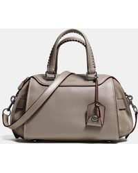 COACH | Ace Satchel In Glovetanned Leather And Suede | Lyst