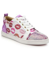 Christian Louboutin | Low-top Lip Sneakers | Lyst