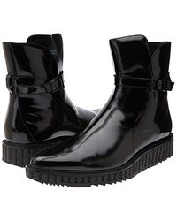 Pierre Balmain Patent Leather Lug Boot - Lyst