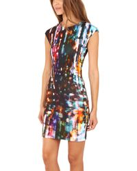 McQ by Alexander McQueen Mcq Blurry Lights Body Con Dress - Lyst