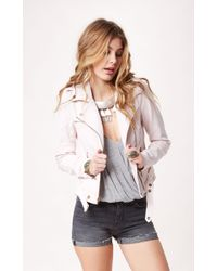 Current/Elliott The Biker Denim Jacket - Lyst