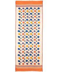 Tolani Dots Scarf W/ Fringe Trim multicolor - Lyst