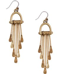 Lucky Brand - Goldtone Paddle Drop Earrings - Lyst