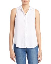 Cloth & Stone - Button Front Blouse - Lyst