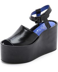 Jeffrey Campbell Chynna Flatform Sandals Black - Lyst