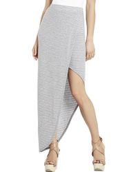 BCBGMAXAZRIA Mercer Ribbed Wrap Around Skirt - Lyst