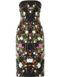 Josh Goot Orchid Mirror-Print Strapless Dress - Lyst