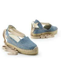 Ralph Lauren Collection Chambray Uma Espadrille - Lyst
