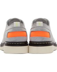 OAMC - Grey Suede Contrast Heschung Edition Derby Shoes - Lyst
