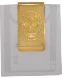 Alexander McQueen Cut Out Skull Money Clip - Lyst