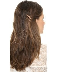 Luv Aj Spike Chain Hair Piece Rose Gold - Lyst
